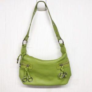 St. John's Bay Vtg Neon Green Shoulder Bag Purse